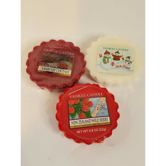YANKEE CANDLE WAX MELT TARTS retired discontinued scents jack frost cranberry